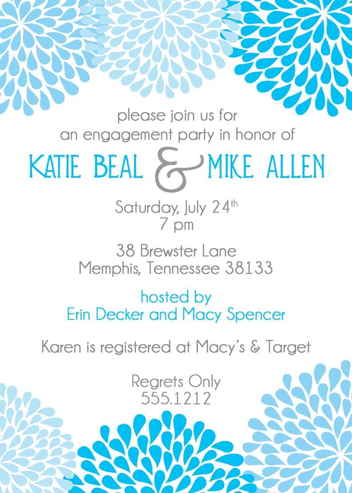 Printable Engagement Party Invitations Australia