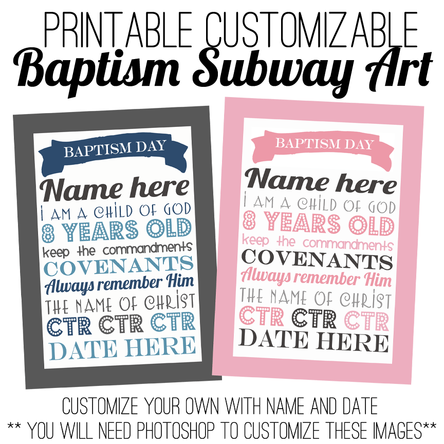 Printable Free Baptism Invitation