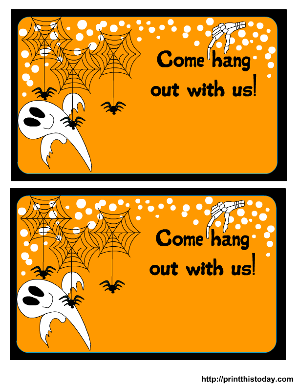 Printable Halloween Invitation Free