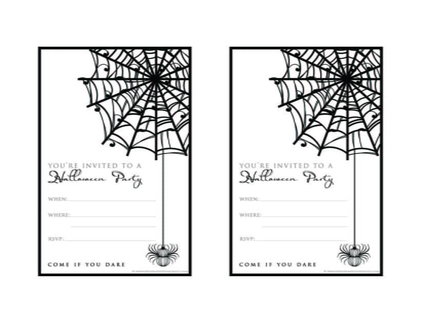 Printable Halloween Invitation Template