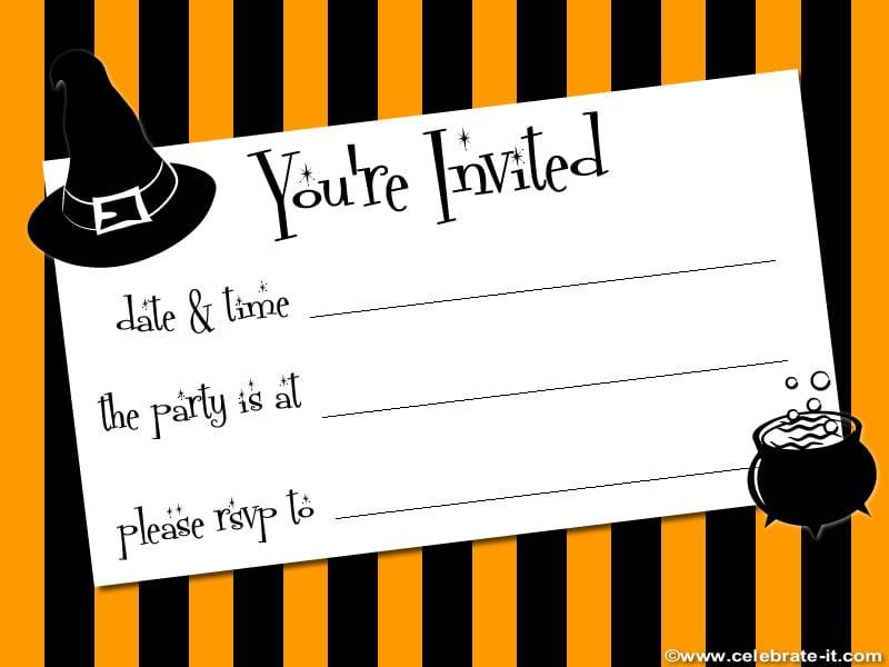 Printable Halloween Party Invitations Print