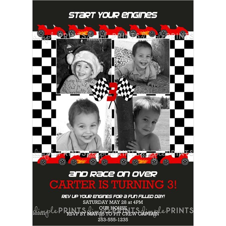 Printable Race Car Invitations