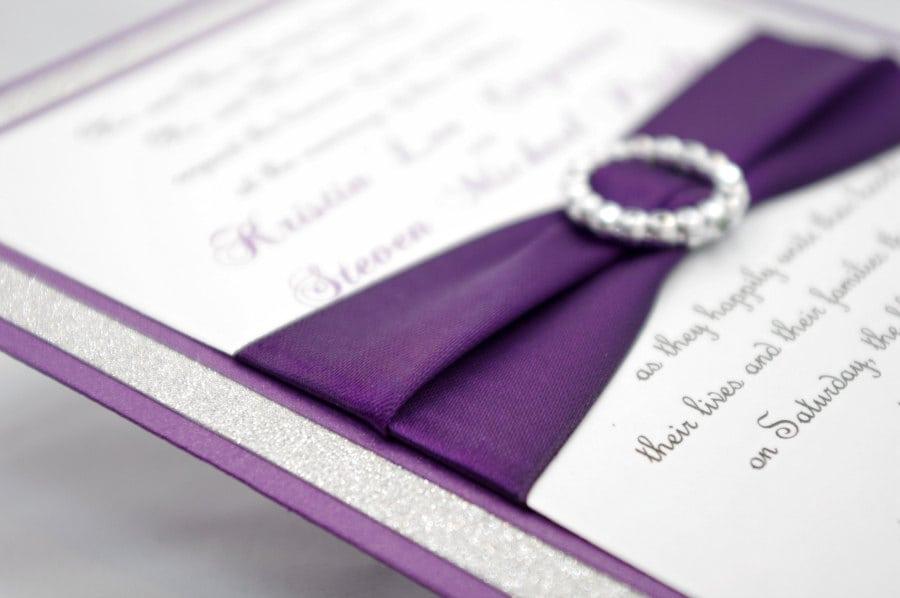 Purple Wedding Invitation Kits