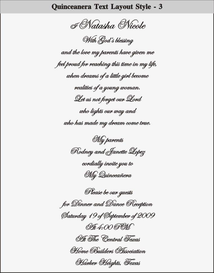 Quince Invitation Template Free