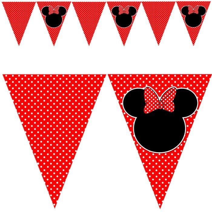 Red Minnie Mouse Printables