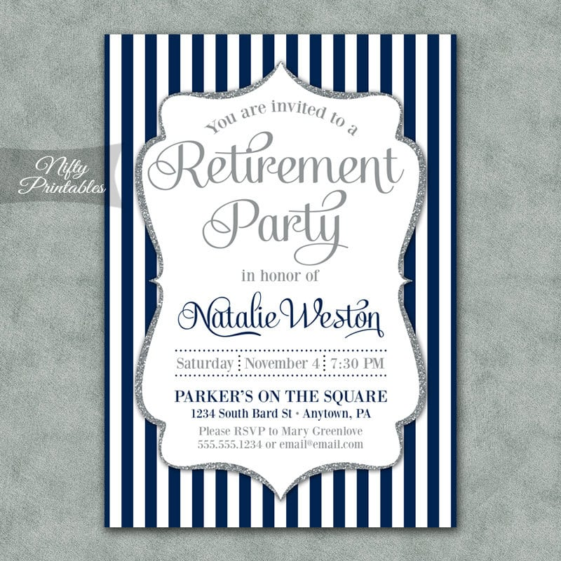 Retirement Invitation Free Printable