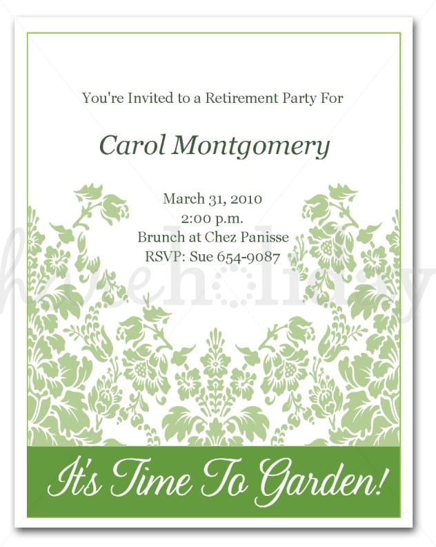 Retirement party invitation download stopboris Image collections