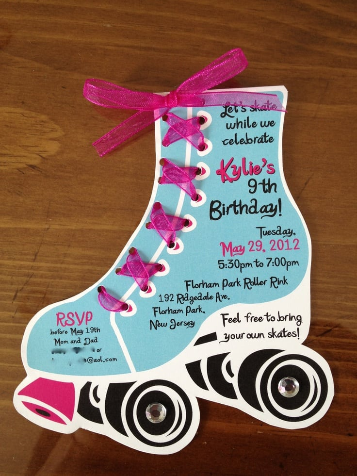 Roller Skating Birthday Invitation Templates