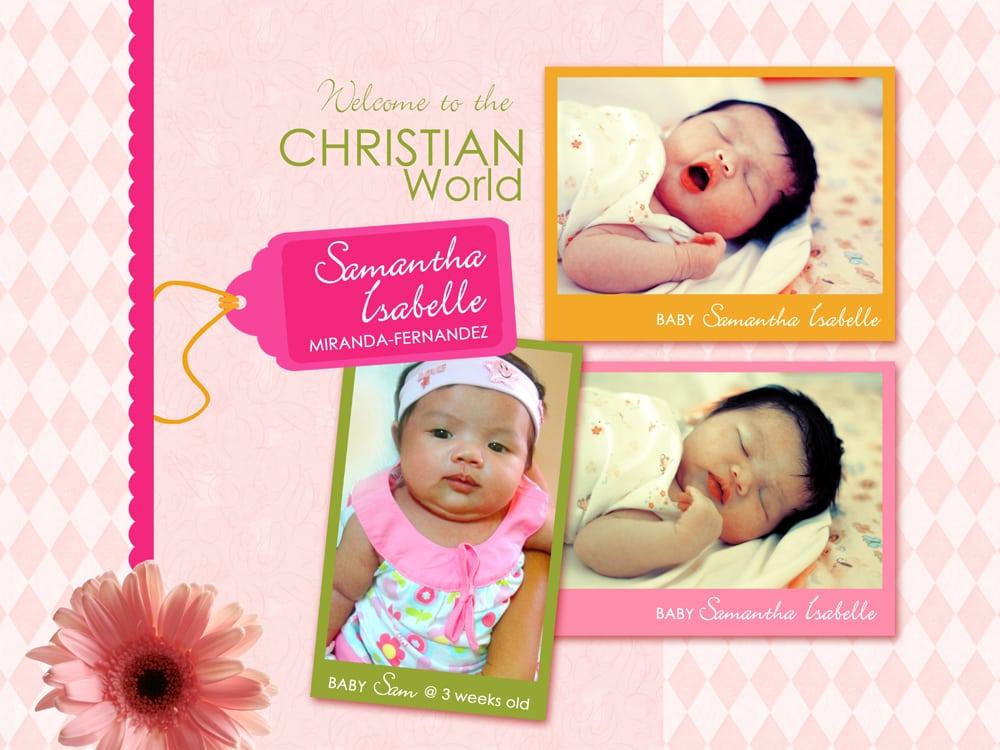 Sample Invitation For Birthday And Christening