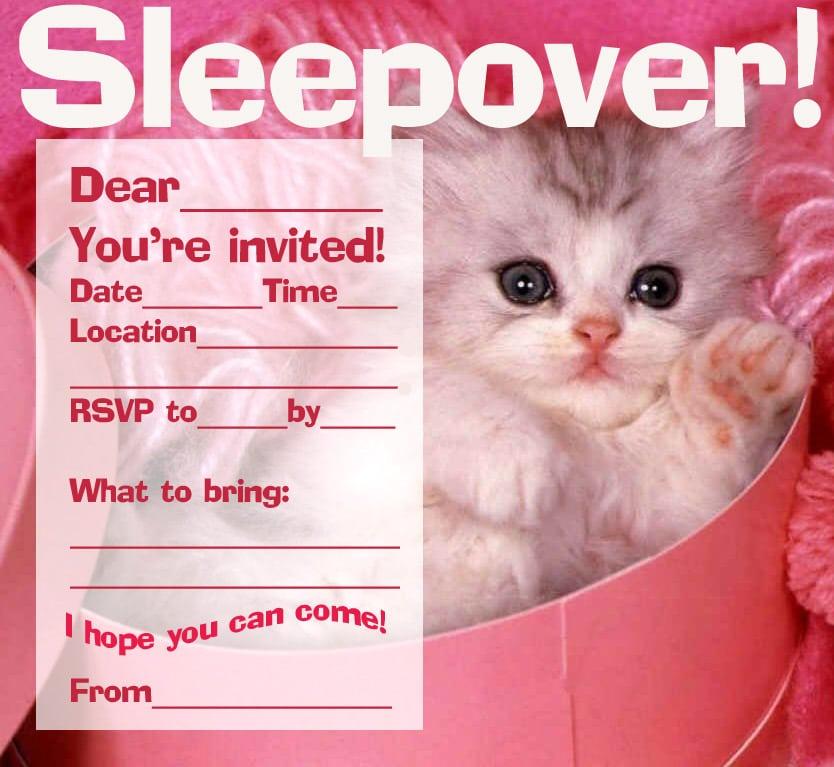 Sleepover Invitation Template
