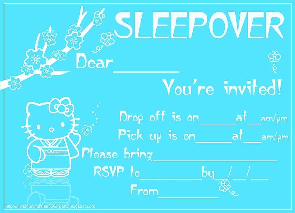 Slumber Party Invitations Online