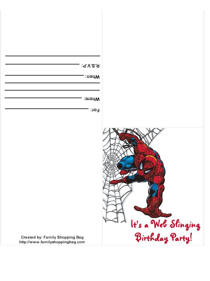 Spiderman Photo Invitation Template