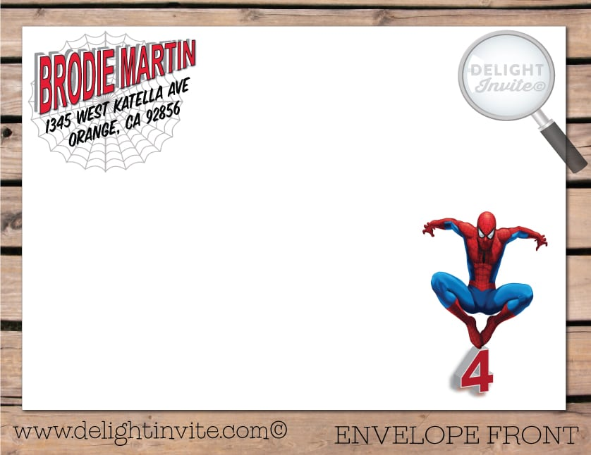 Spiderman Photo Invitations Birthday