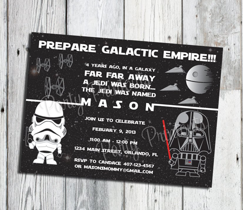 Star Wars Birthday Invitation Ideas