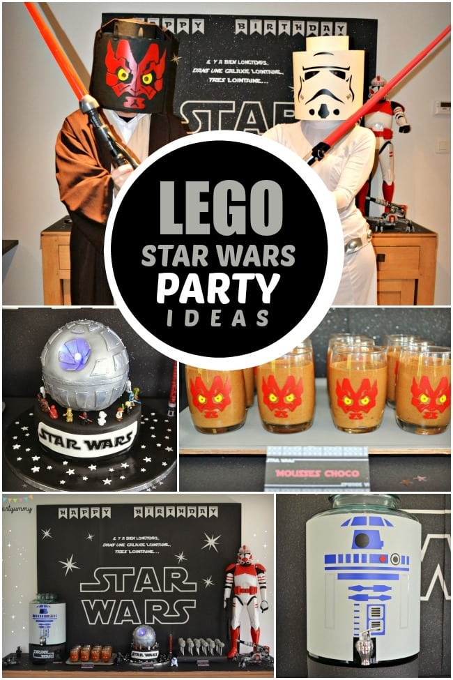 Star Wars Lego Birthday Party Invitations