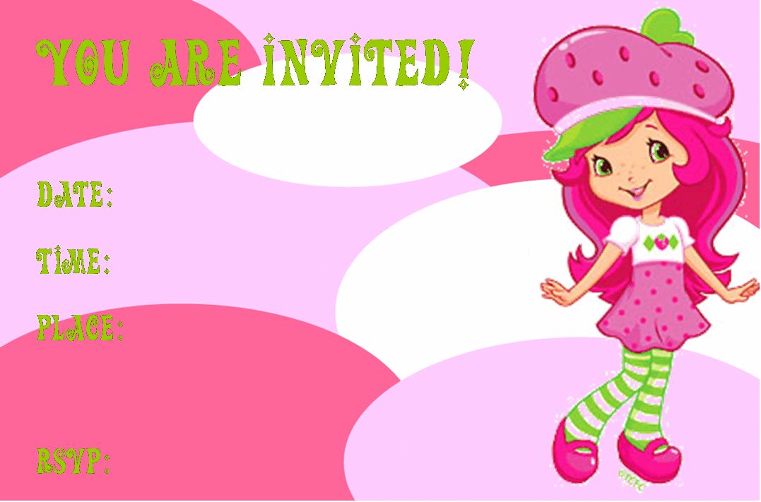 Strawberry Shortcake Invitation Printable