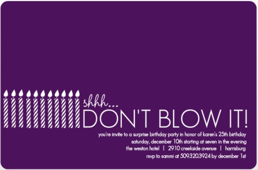 Surprise Birthday Invitation Template