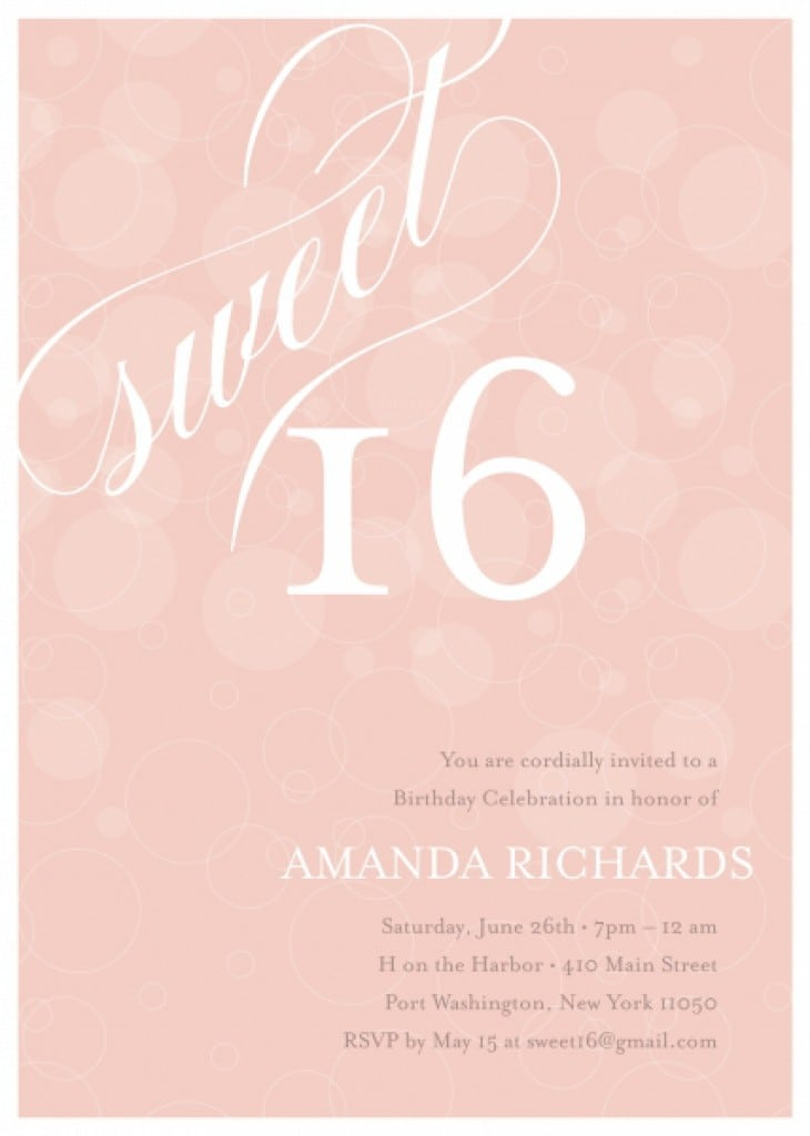 Sweet 16 Invitations Free Printable