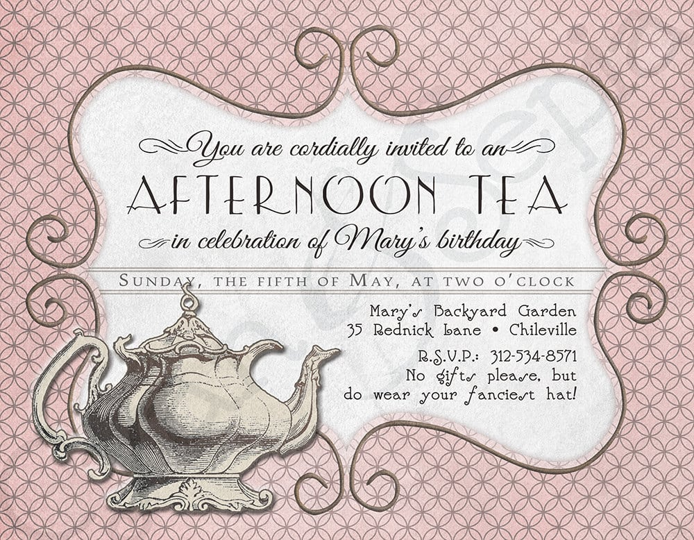 Tea Party Invitation Designs