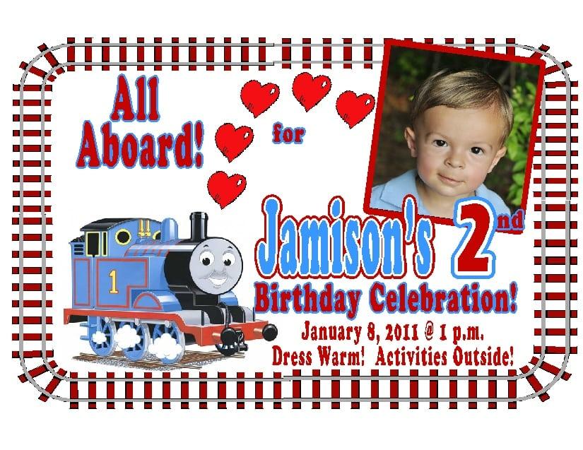 Thomas The Train Birthday Invitation Template