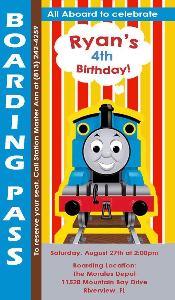 Thomas The Train Invitations Etsy