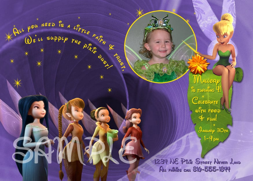 Tinkerbell Birthday Invitation Template