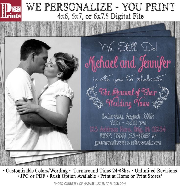 Vow Renewal Invitations Etsy