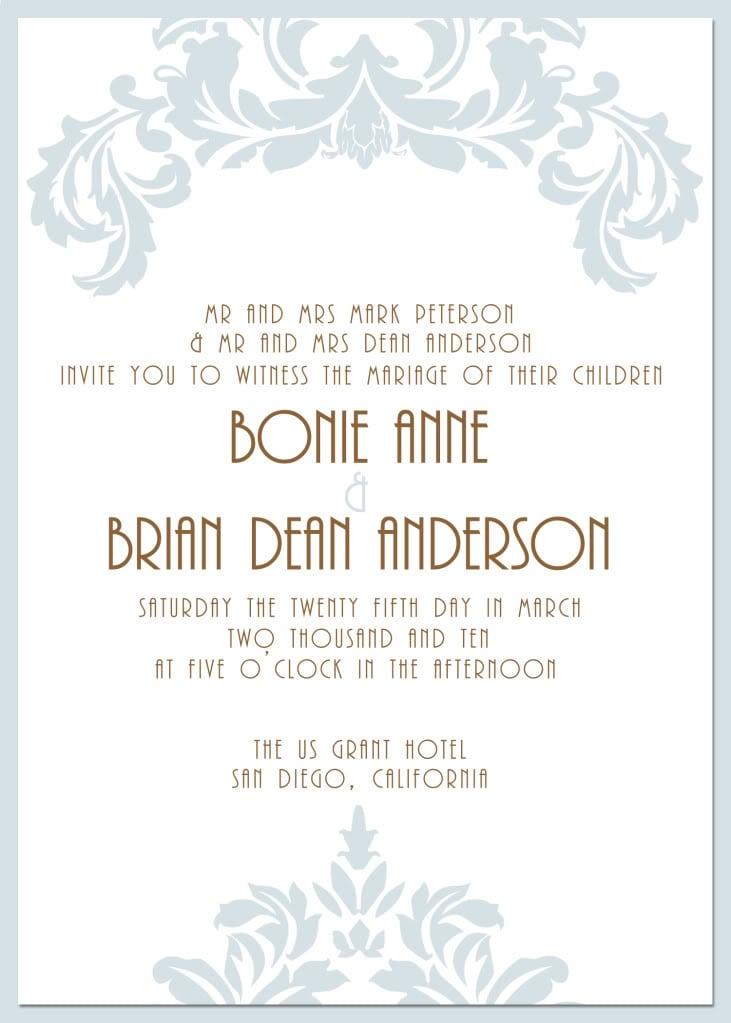 Wedding Invitation Etiquette In Spanish