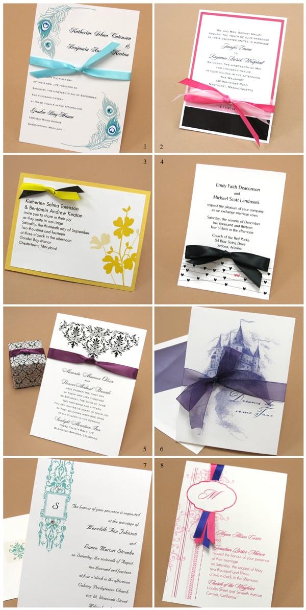 Wedding Invitation Ideas With Ribbon