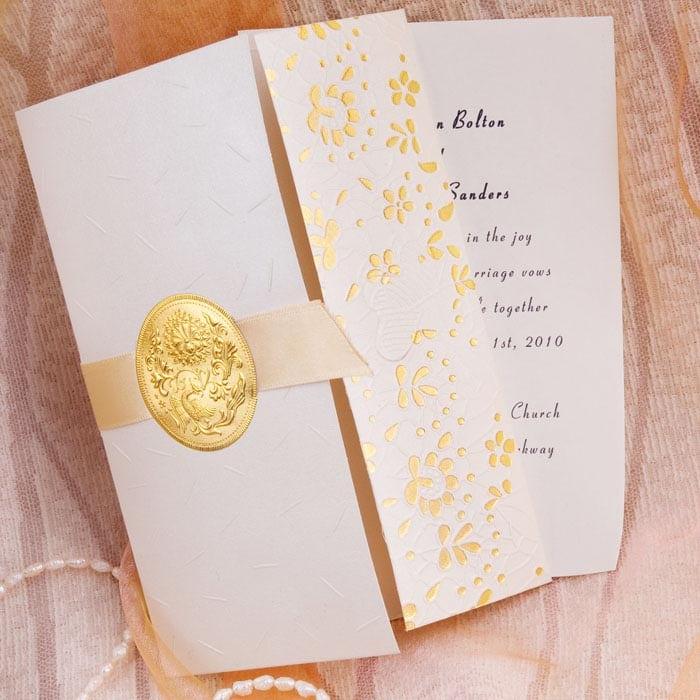 Wedding Invitation Kits With Ribbon