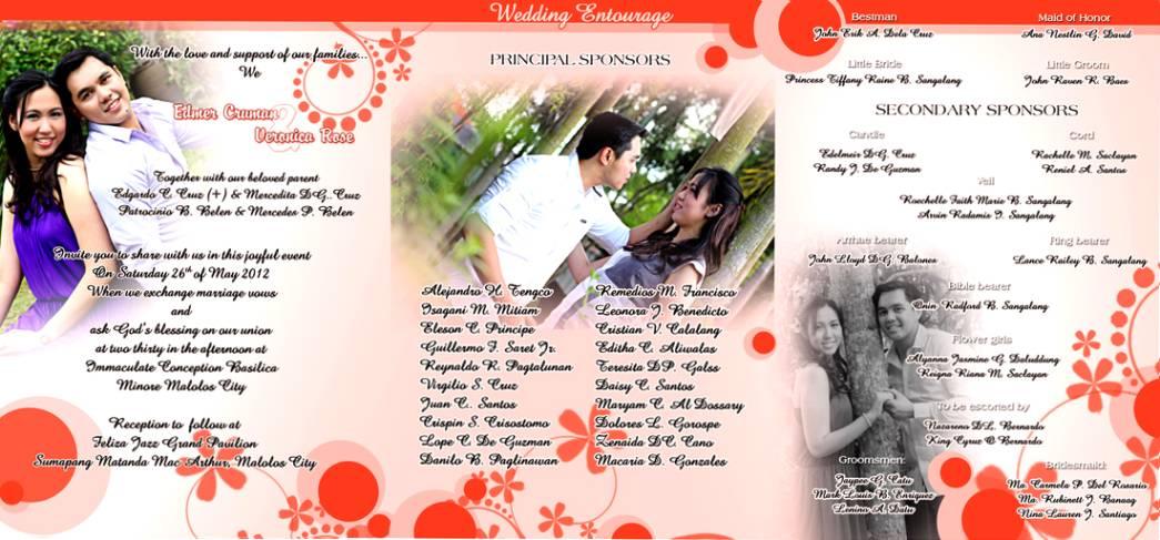 Wedding Invitation Philippines Sample