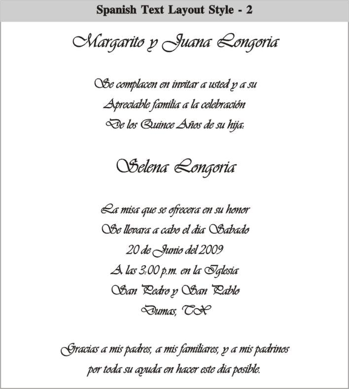 Wedding Invitation Sayings In Spanish