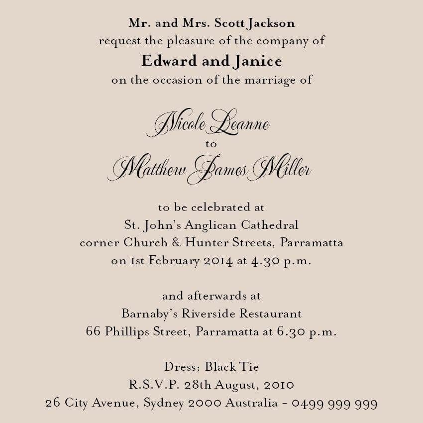 Wedding Invitation Wording Diy
