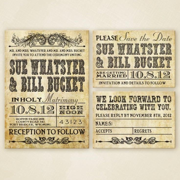 Western Wedding Invitation