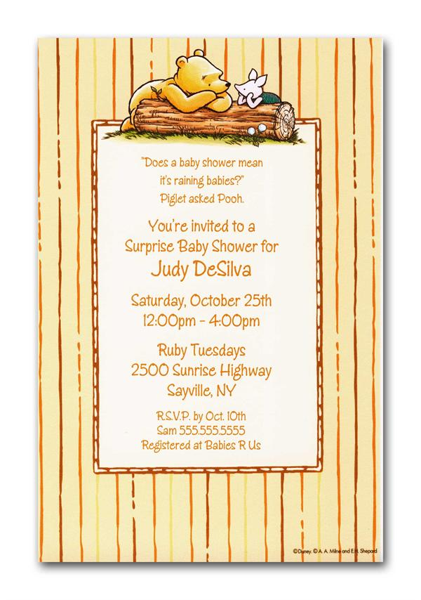 Winnie The Pooh Baby Shower Invitation Template Free