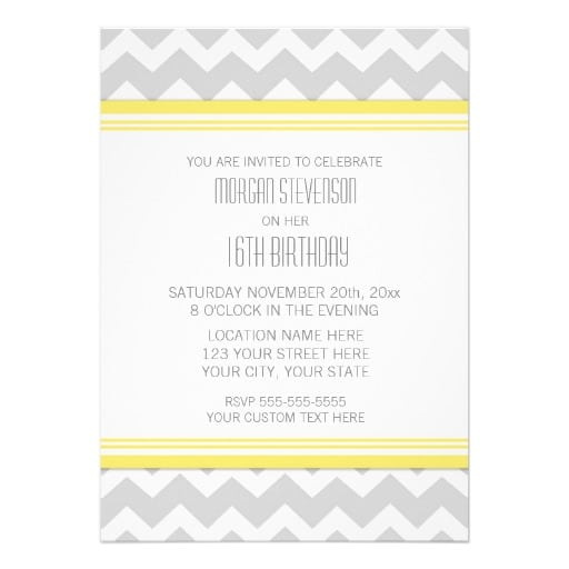 16th Birthday Party Invitation