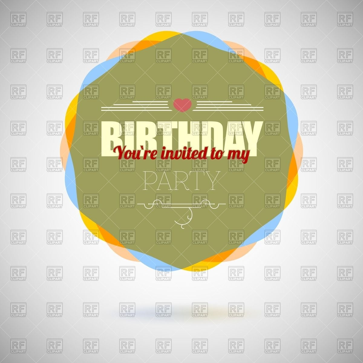 1st Birthday Invitation Cards Psd File Free Download
