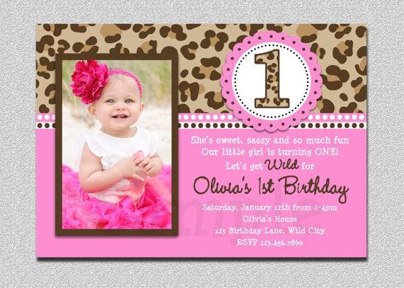 1st Birthday Invitation Template Online