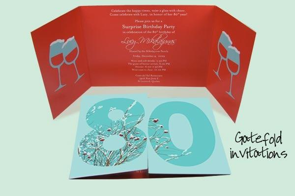 80th Birthday Invitation Designs