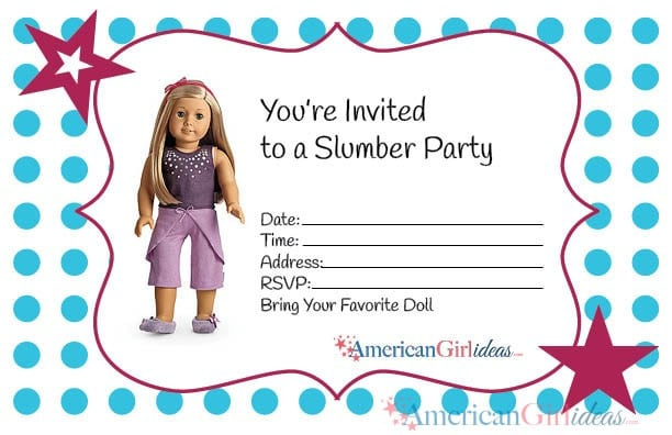 American Girl Party Invitation Template