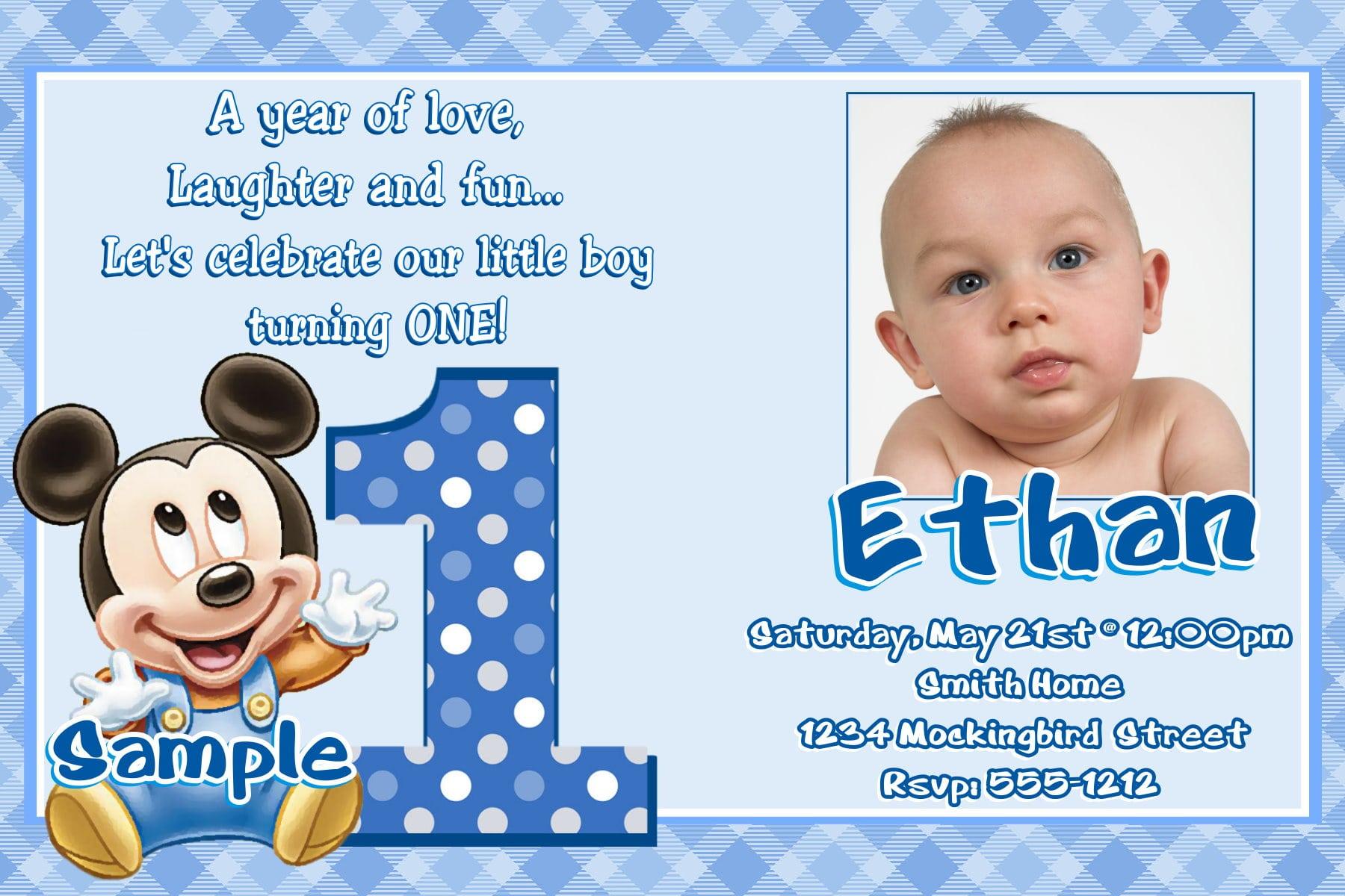 Baby 1st Birthday Invitation Samples