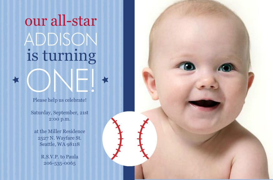 Baby  S 1st Birthday Invitation Template