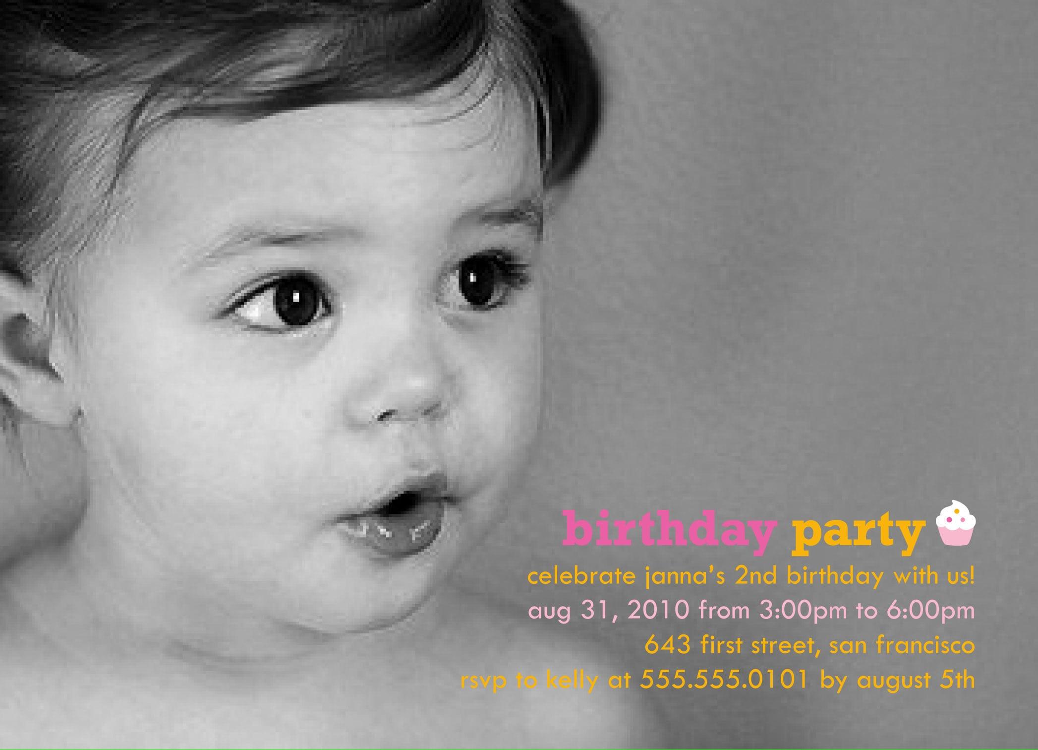 Baby First Birthday Invitation Templates