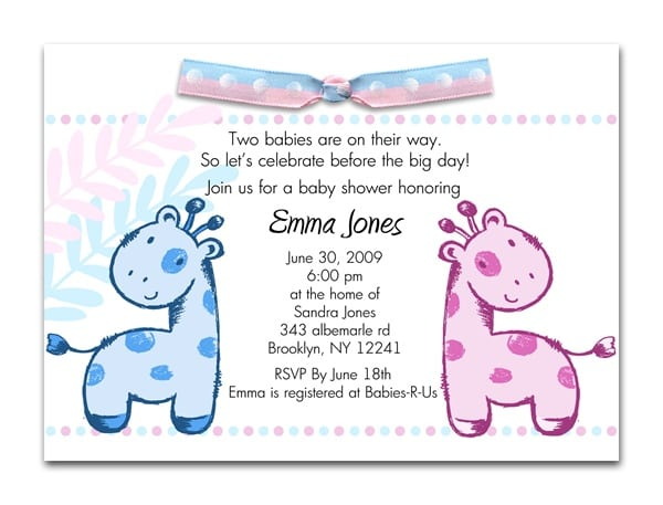 Baby Shower Invitation For Girls Template For Email Invites