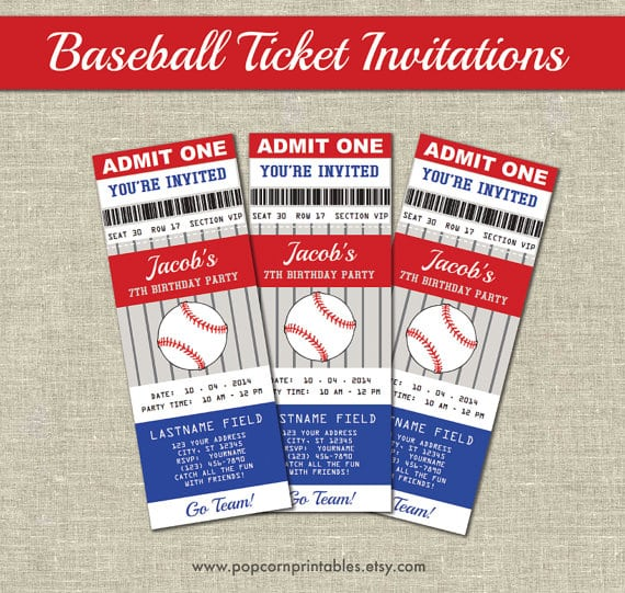 Baseball Ticket Invitation Template Free Download