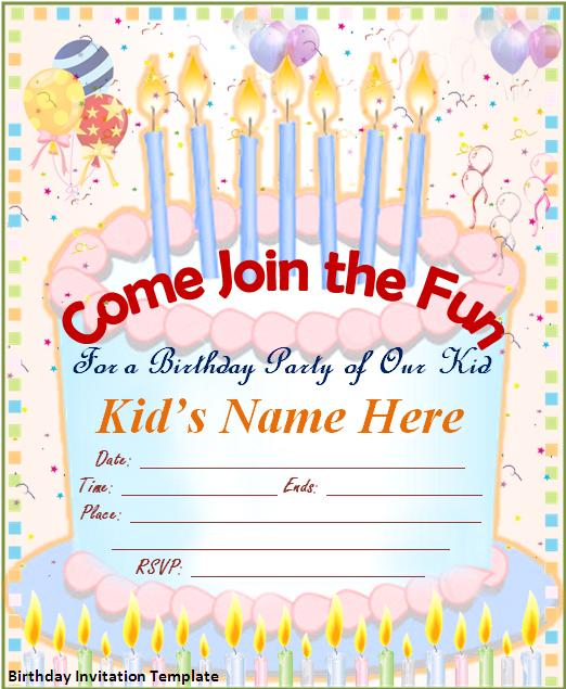 Birthday Card Invitation Samples