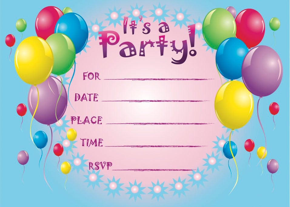 Birthday Cards Invitations Printable