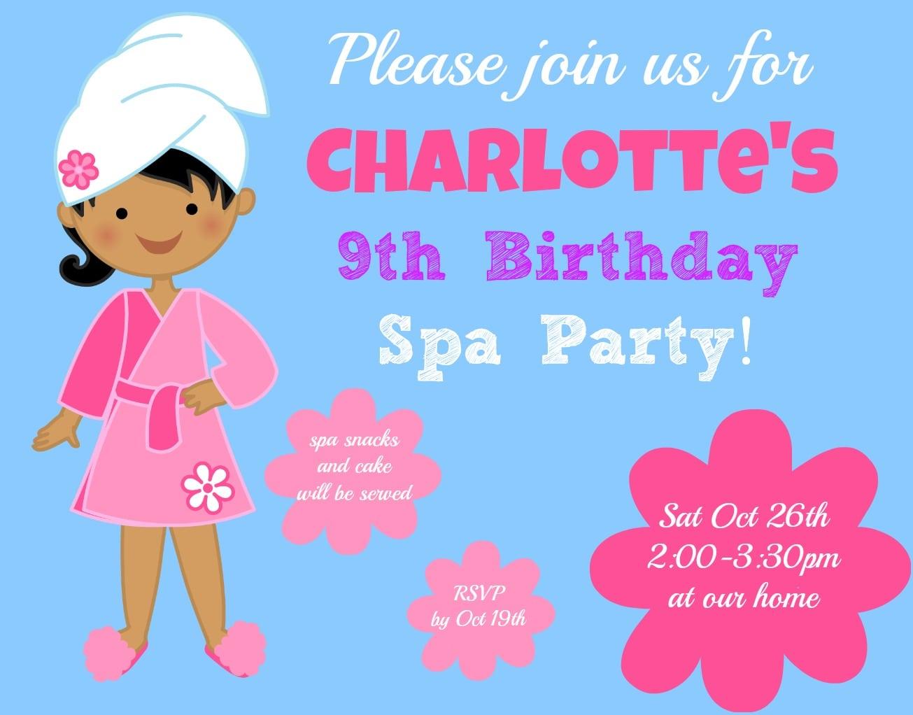 Birthday Invitation For 11 Year Old Girls