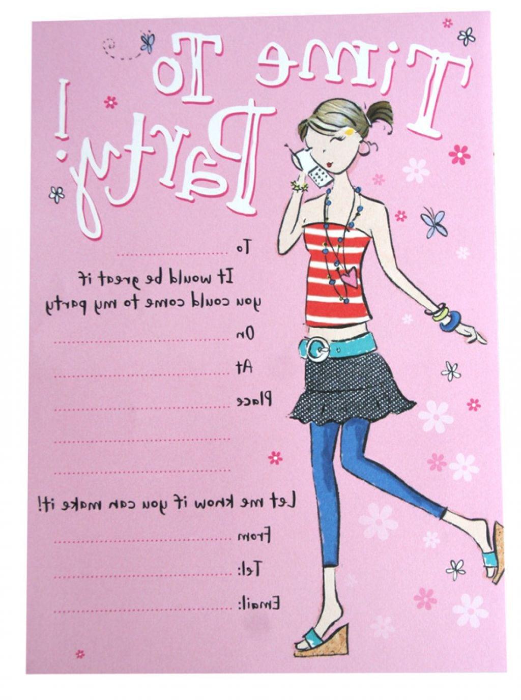 Birthday Invitation For Teenage Girls 14