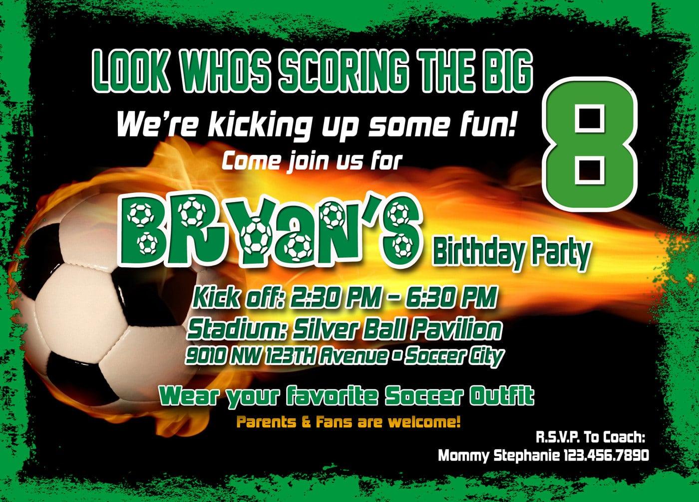 Birthday Invitations Soccer Free